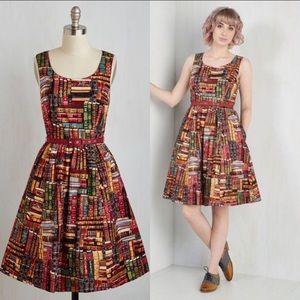 Modcloth Archive Got the Power Book Print Dress